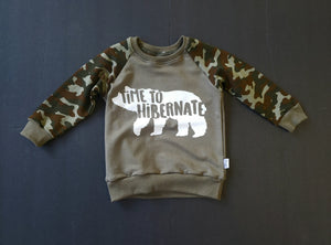 """Time To Hibernate"" Raglan Sweater"