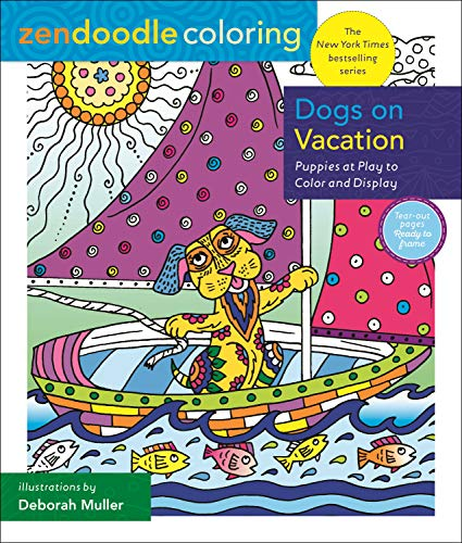 Zendoodle Coloring Dogs on Vacation