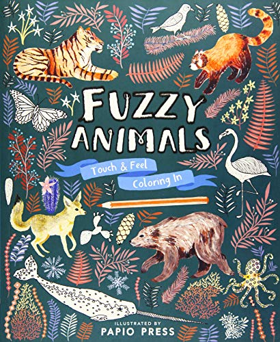 Fuzzy Animals Touch & Feel Coloring In