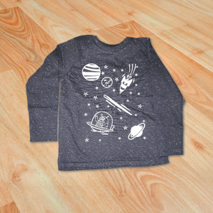 Long Sleeve Outer Space Shirt