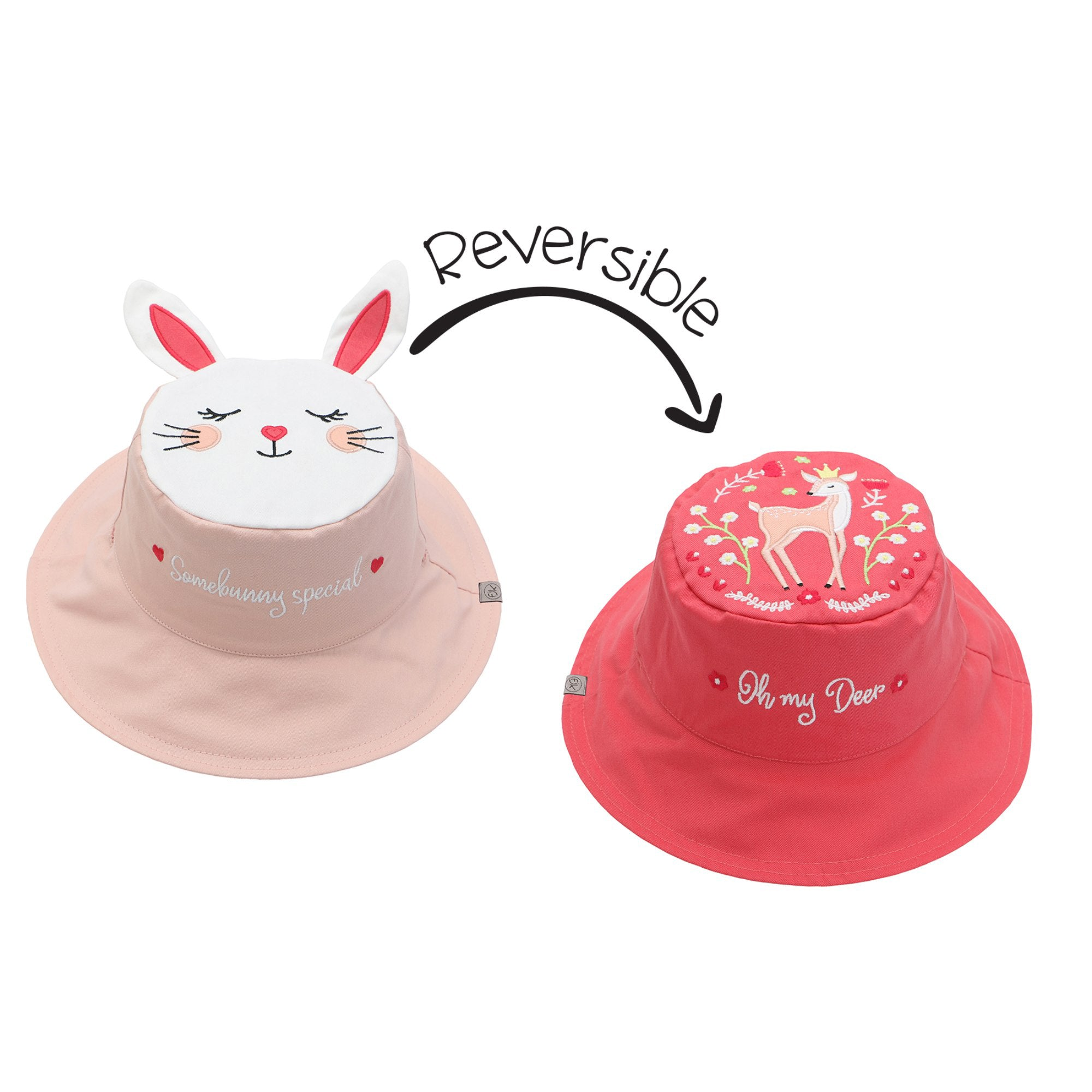 Bunny and Deer Reversible Sun Hat