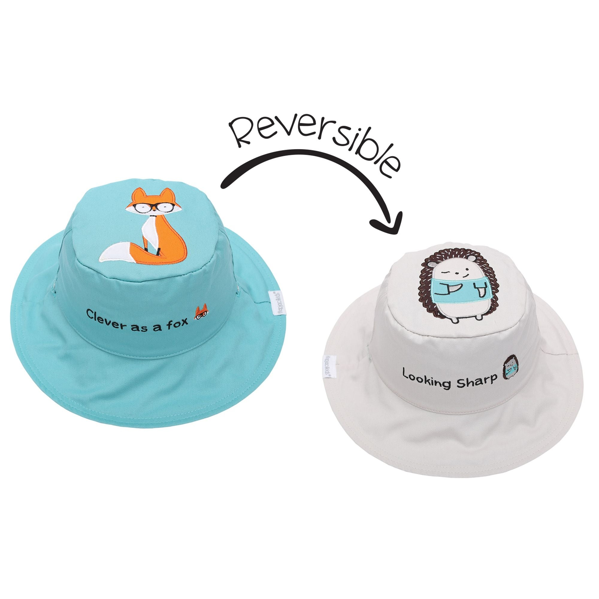 Fox and Hedgehog Reversible Sun Hat