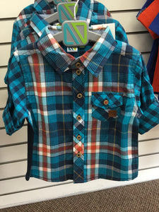 NANO BLUE PLAID SHIRT
