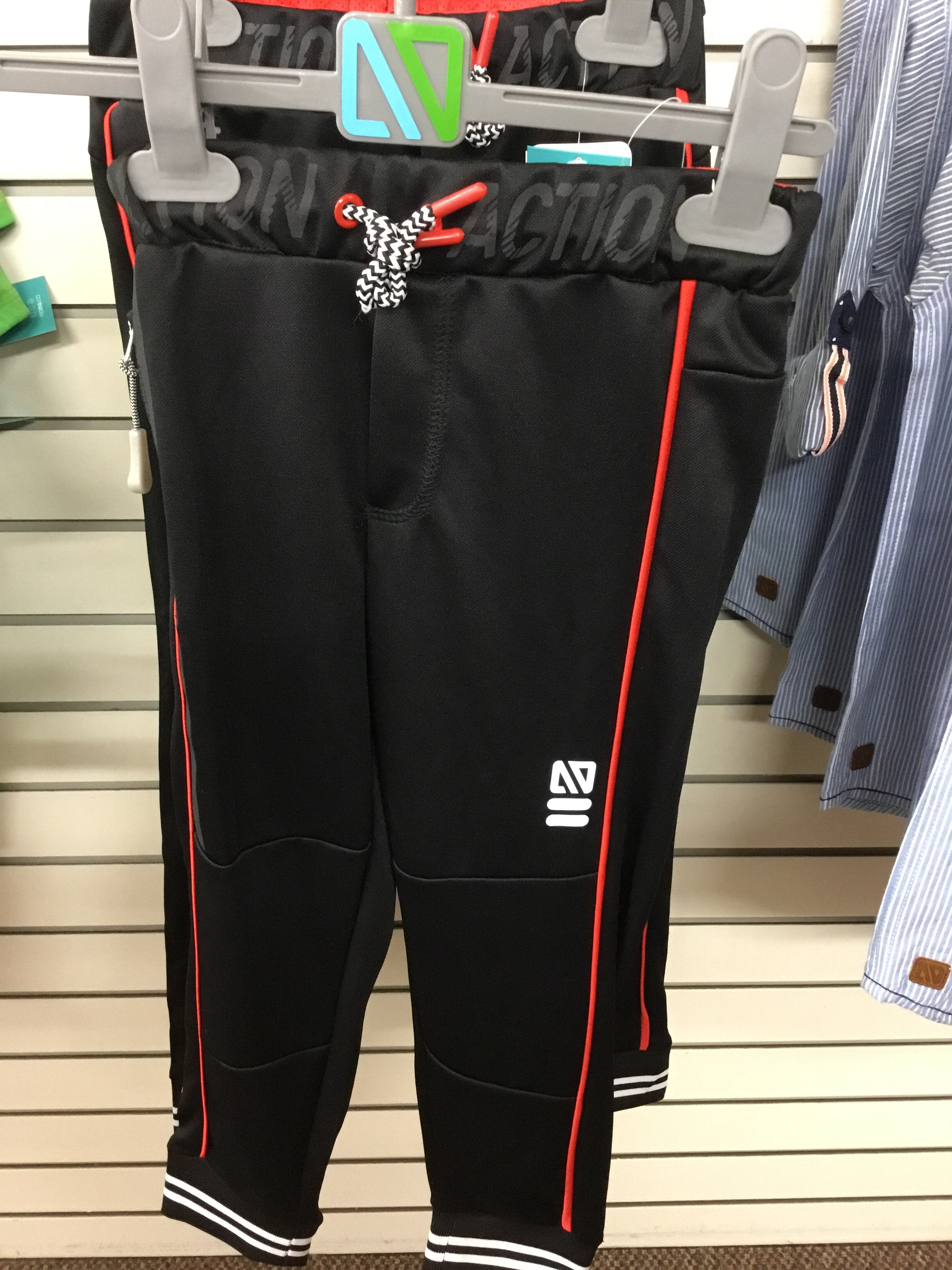 Black and Red Athletic Pants