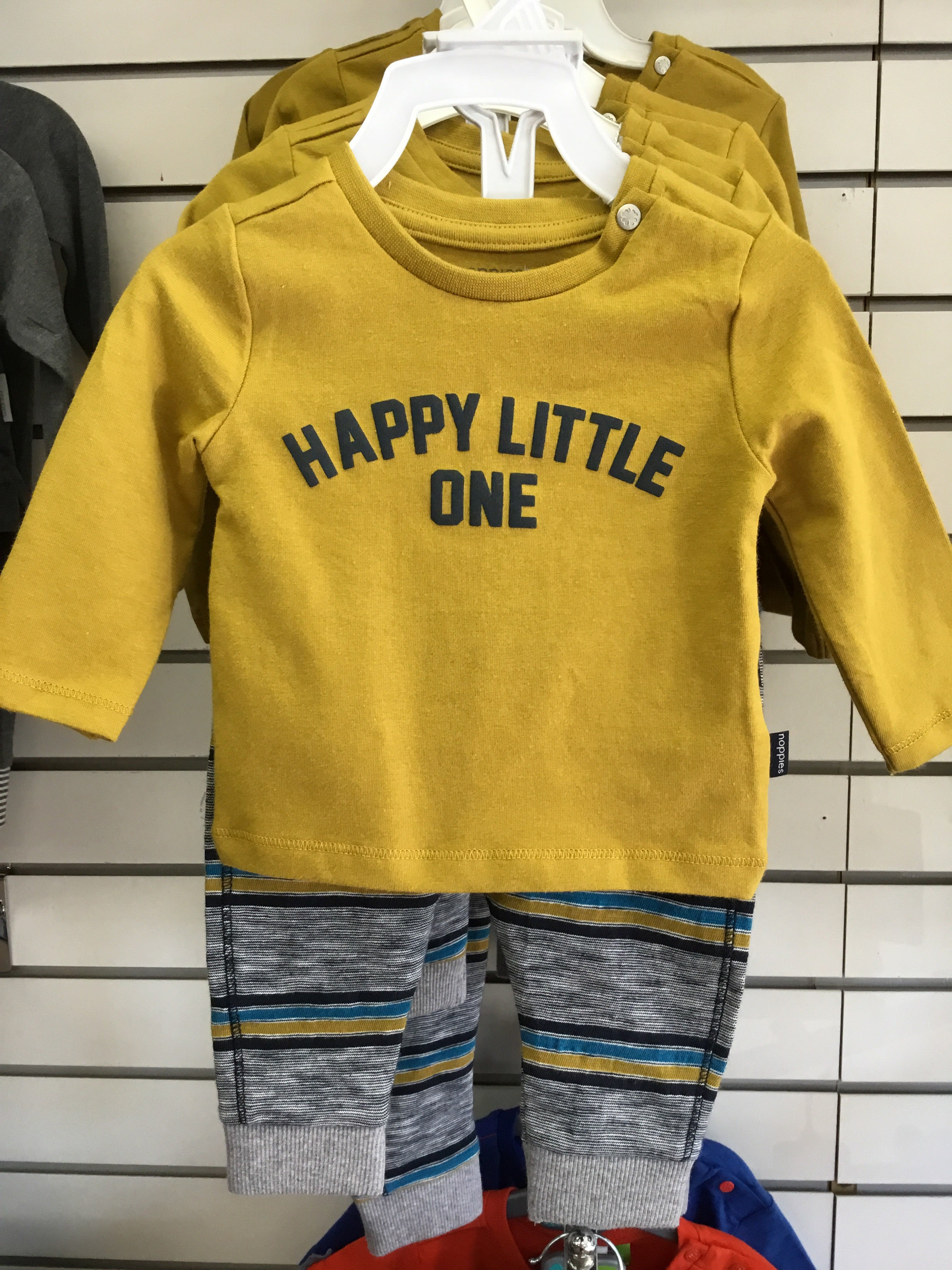 NOPPIES BABY HAPPY LITTLE ONE YELLOW