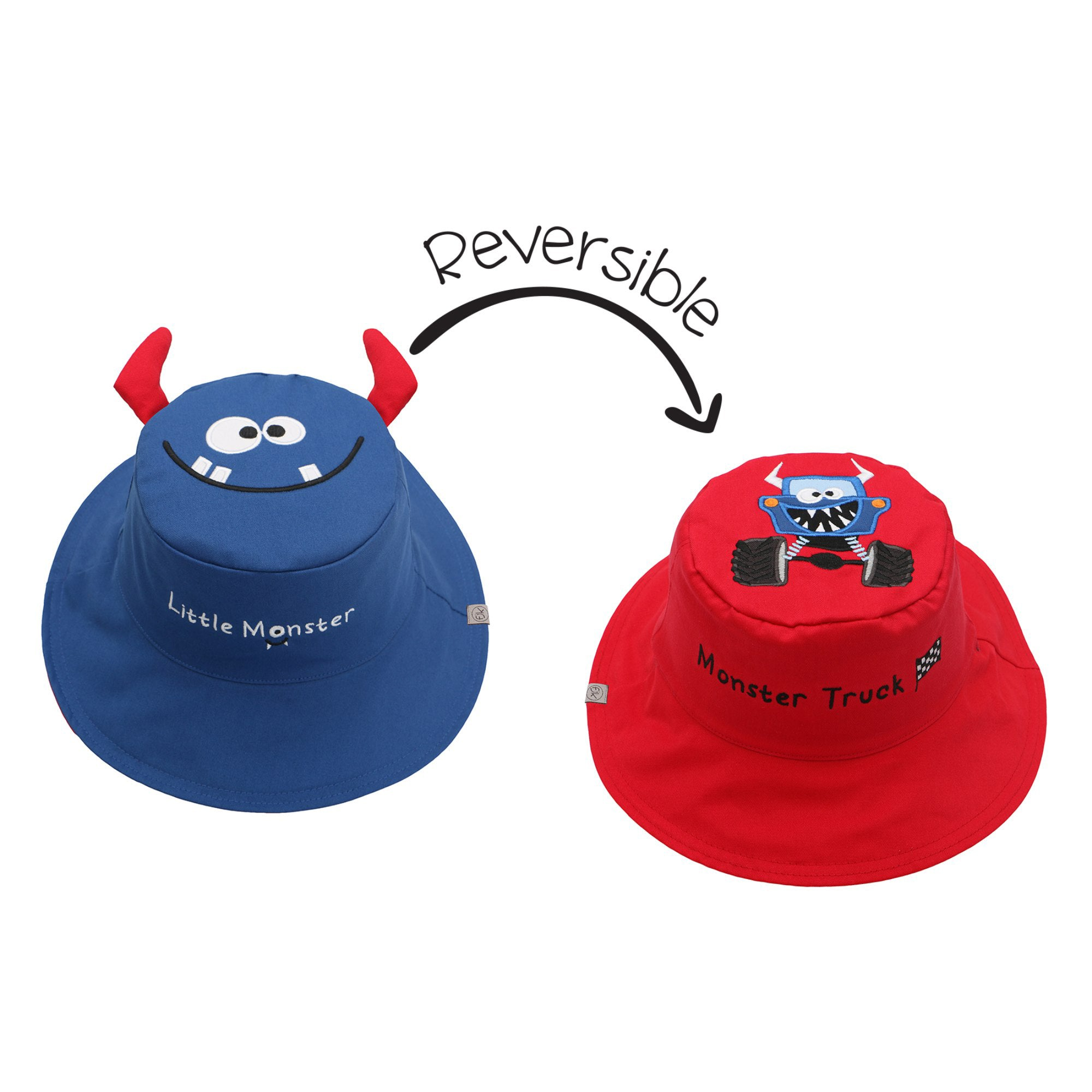 Monster and Car Reversible Sun Hat