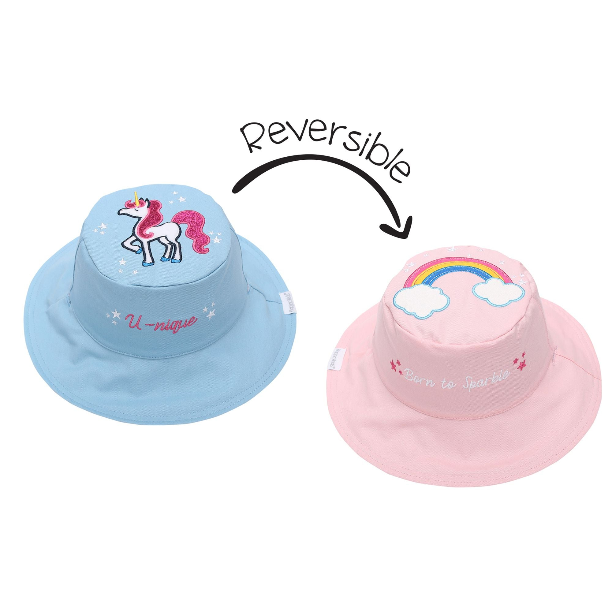 Rainbow and Unicorn Reversible Sun Hat