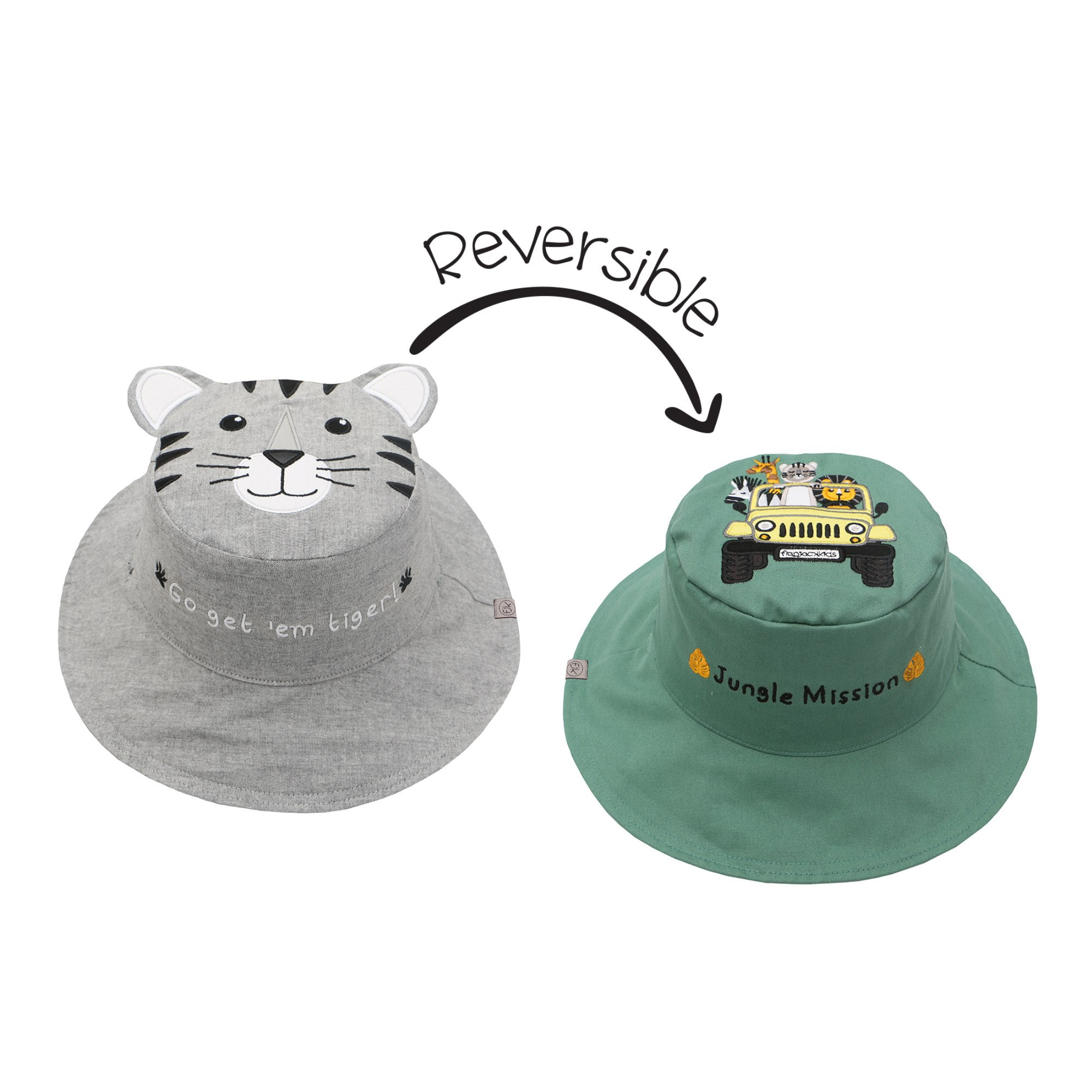 Tiger and Safari Reversible Sun Hat