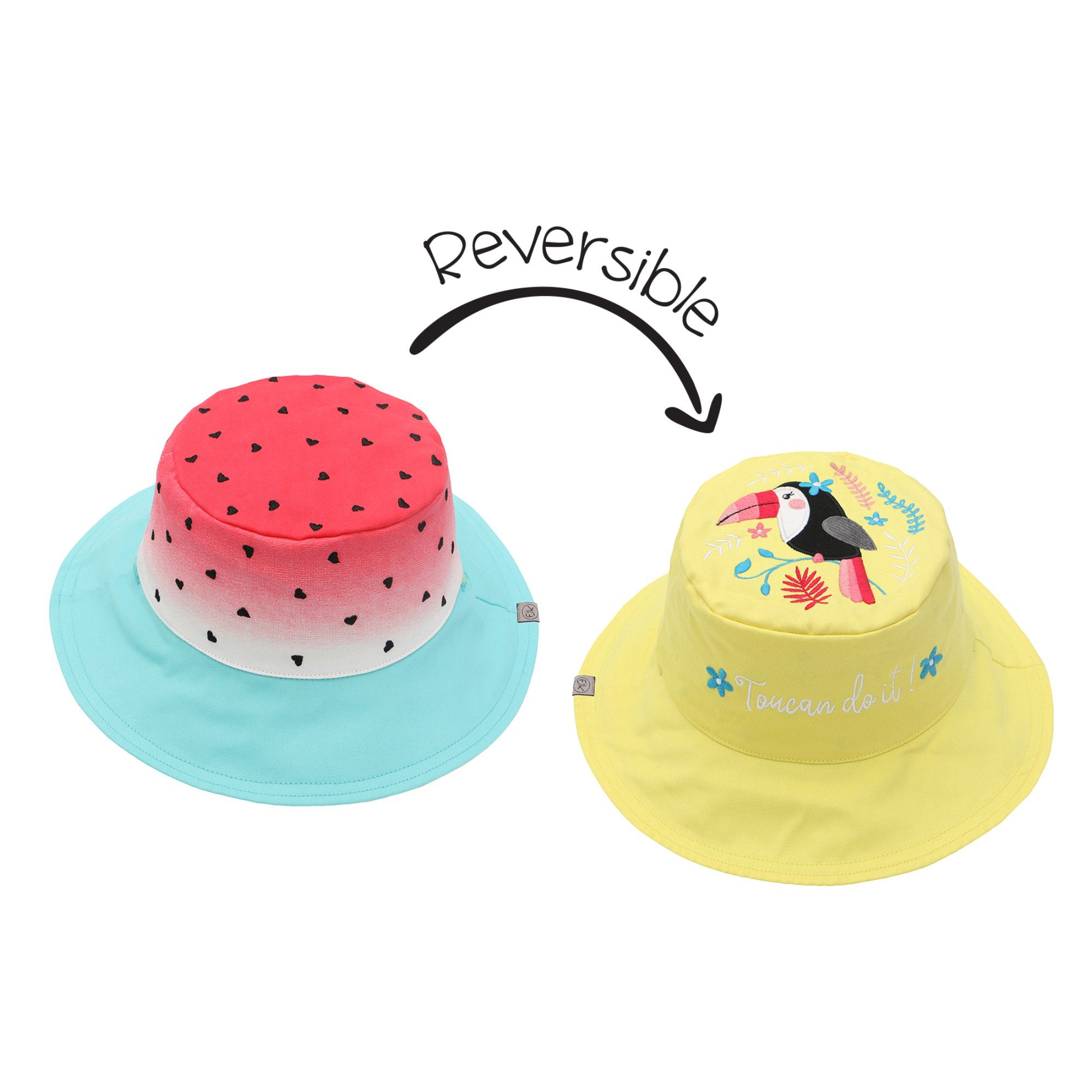 Watermelon and Toucan Reversible Sun Hat