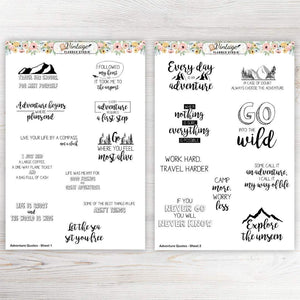 Adventure Quotes Clipart Planner Stickers - Vintage Planner Studio