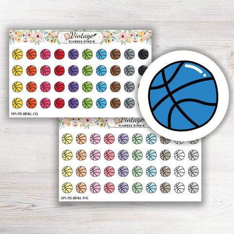 Basketball Mini Icon Planner Stickers - Vintage Planner Studio