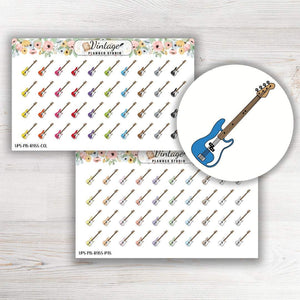 Bass Guitar Mini Icon Planner Stickers - Vintage Planner Studio