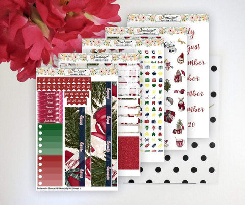 Believe In Santa Monthly Kit | Classic Happy Planner - Vintage Planner Studio
