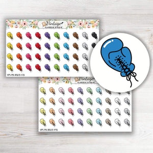 Boxing Glove Mini Icon Planner Stickers - Vintage Planner Studio