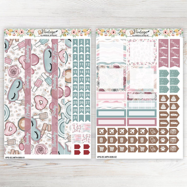 Breakfast In Bed Monthly Kit | Erin Condren Vertical - Vintage Planner Studio