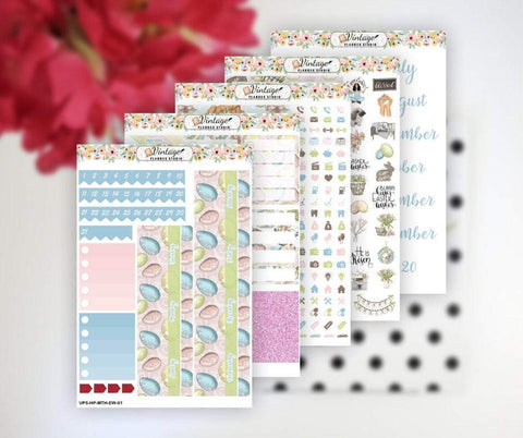 Easter Wishes Monthly Kit | Classic Happy Planner - Vintage Planner Studio