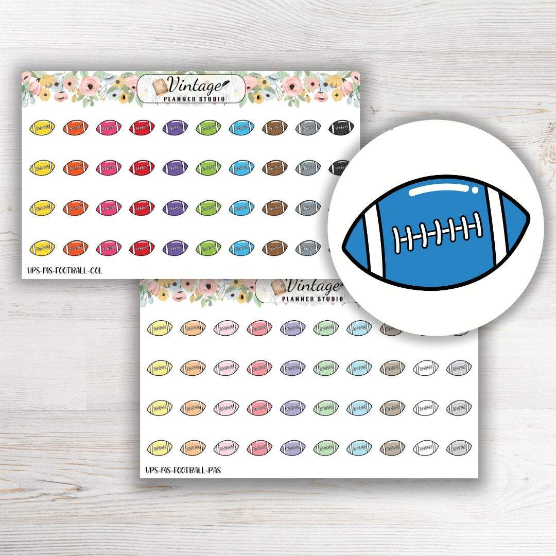Football Mini Icon Planner Stickers - Vintage Planner Studio