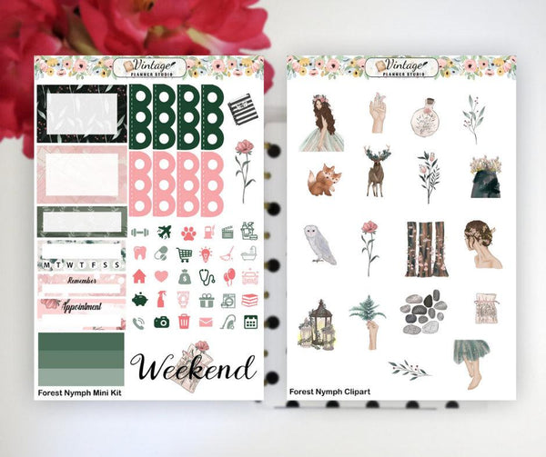 Forest Nymph Mini Kit | Planner Stickers - Vintage Planner Studio