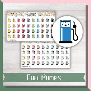 Fuel Pumps Mini Icon Planner Stickers - Vintage Planner Studio