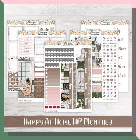 Happy At Home Monthly Kit | Classic Happy Planner - Vintage Planner Studio