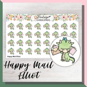 Happy Mail Elliot Mini Sheet Planner Stickers - Vintage Planner Studio