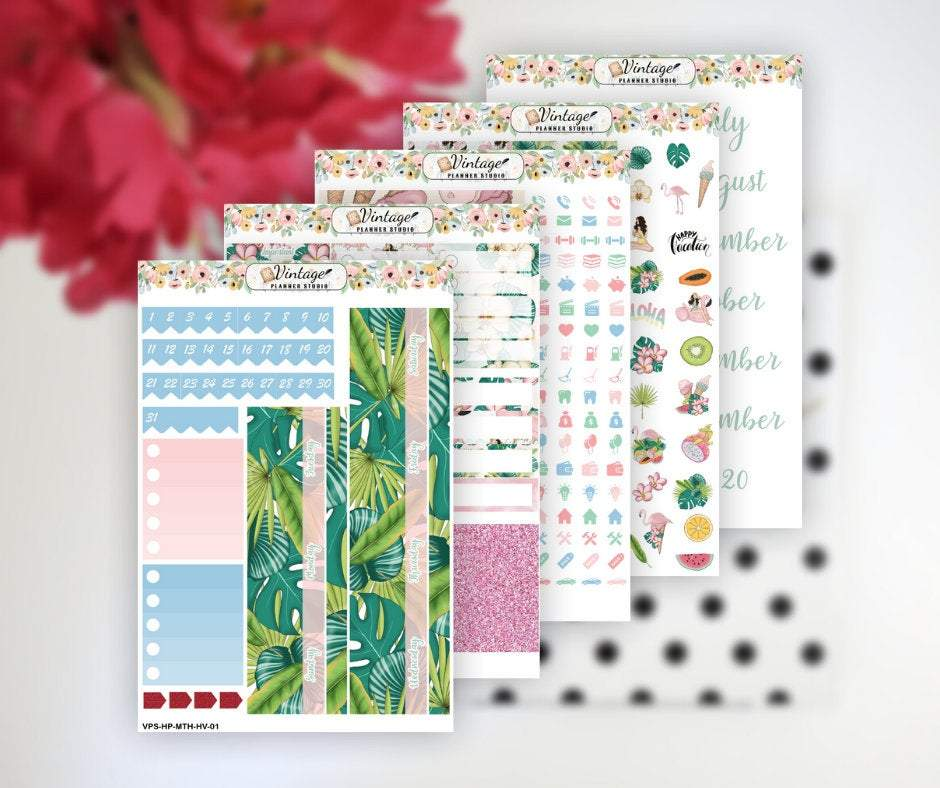 Happy Vacation Monthly Kit | Classic Happy Planner - Vintage Planner Studio