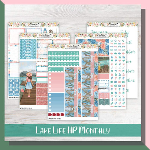 Lake Life Monthly Kit | Classic Happy Planner - Vintage Planner Studio