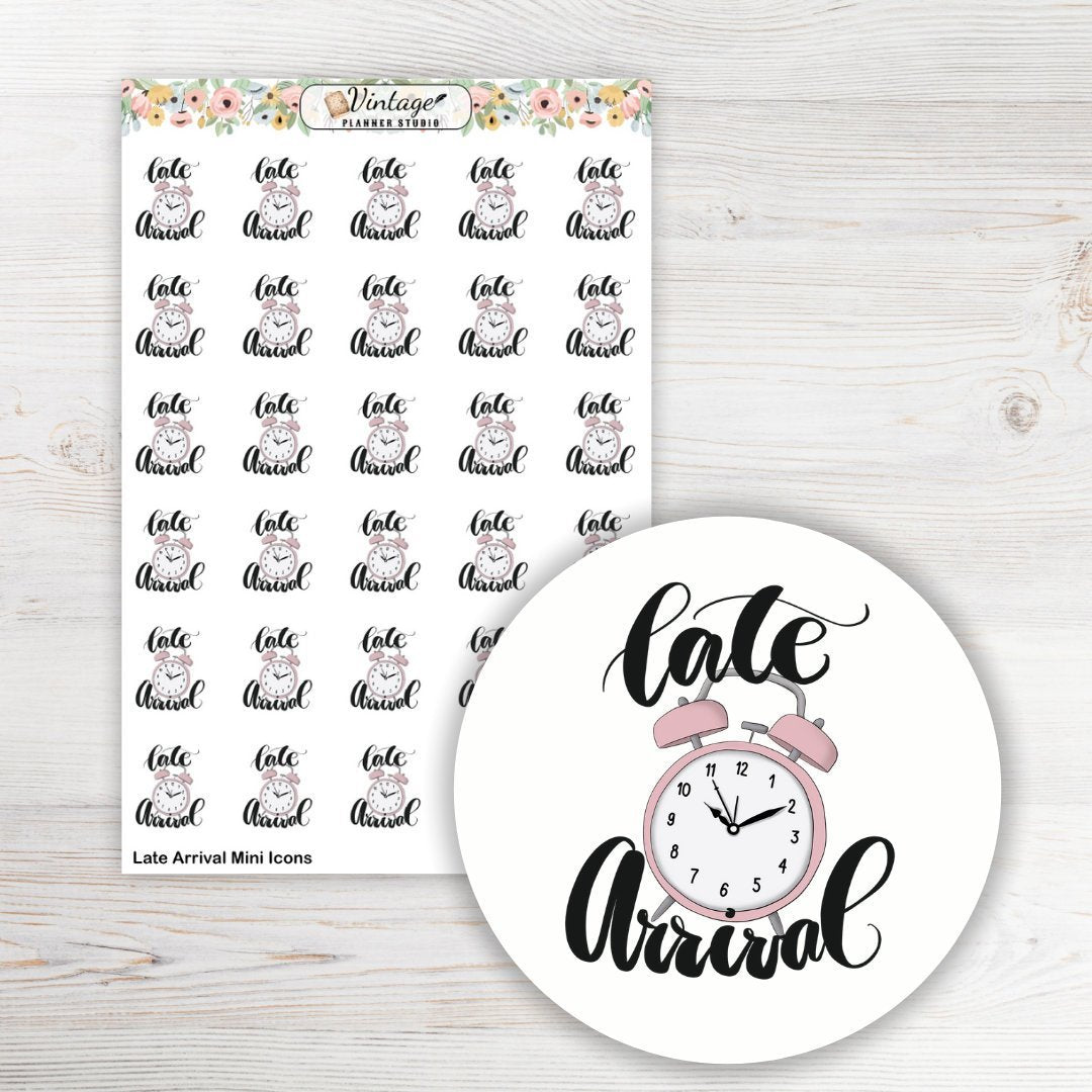 Late Arrival Planner Stickers - Vintage Planner Studio