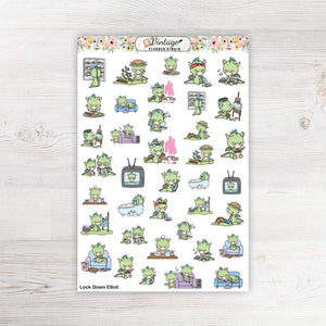 Lock Down Elliot Stickers - Vintage Planner Studio