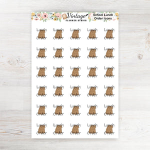 Lunch Order Planner Stickers - Vintage Planner Studio