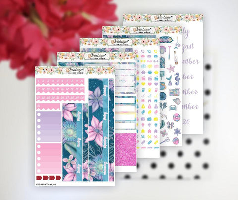 Mermaid Life Monthly Kit | Classic Happy Planner - Vintage Planner Studio