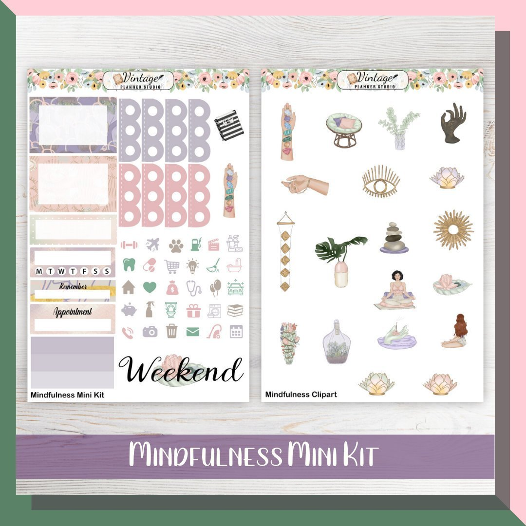 Mindfulness Mini Kit | Planner Stickers - Vintage Planner Studio