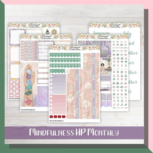 Mindfulness Monthly Kit | Classic Happy Planner - Vintage Planner Studio