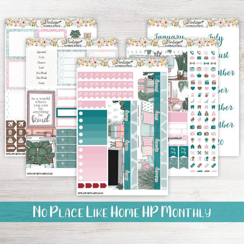 No Place Like Home Monthly Kit | Classic Happy Planner - Vintage Planner Studio