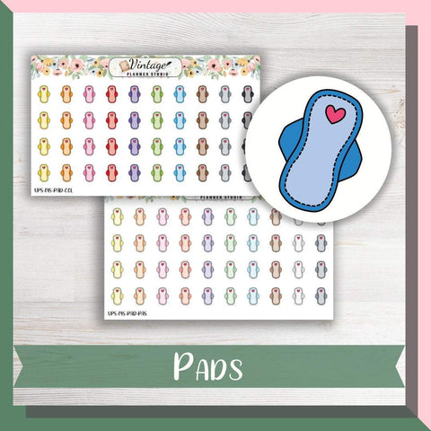 Pads Mini Icon Planner Stickers - Vintage Planner Studio