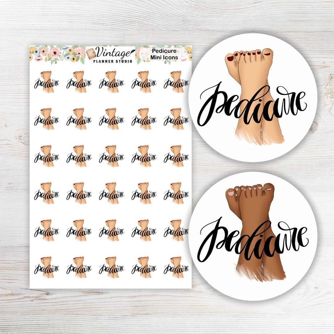 Pedicure Icon Planner Stickers - Vintage Planner Studio