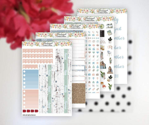 Planner Cafe Date Monthly Kit | Classic Happy Planner - Vintage Planner Studio