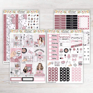 Planner Therapy Essentials Weekly Sticker Kit | EC Style | VERTICAL | 4 Sheet Kit - Vintage Planner Studio