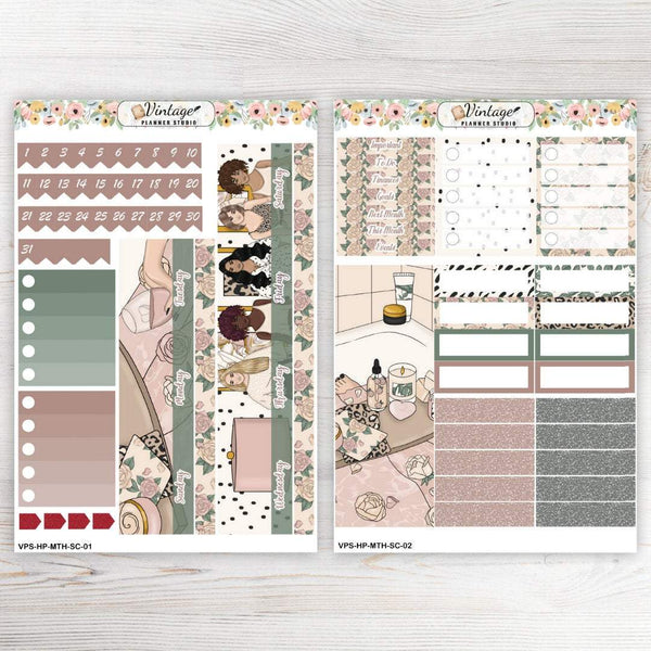 Self Care Monthly Kit | Classic Happy Planner - Vintage Planner Studio