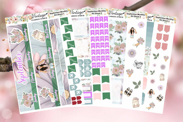 September Monthly Kit | Planner Stickers - Vintage Planner Studio