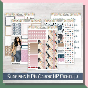 Shopping Is My Cardio Monthly Kit | Classic Happy Planner - Vintage Planner Studio