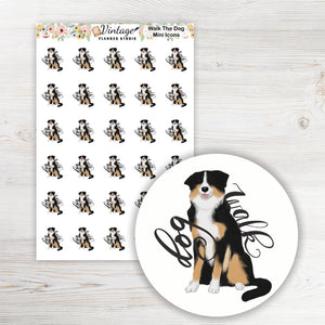 Walk the Dog Planner Stickers - Vintage Planner Studio