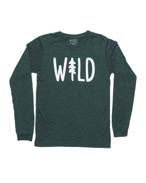 Inspired by the Ponderosa Pines up north, we created this comfy wilderness long sleeve tee for those who need to get up, get out, and get wild!  A cotton/poly blend  Screen printed locally in Arizona  Created in WRAP Certified facilities Your purchase supports small businesses during the pandemic recovery, thank you for your support.   Shop at adventureplease.com