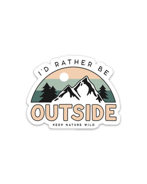 I'd Rather Be Outside Sticker Shop at AdventurePlease.com