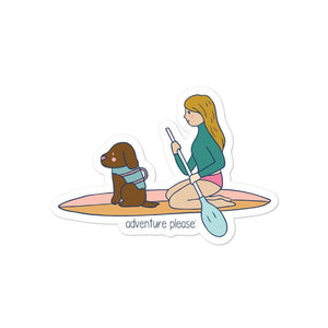 a girl & her pup sticker - Adventure Please