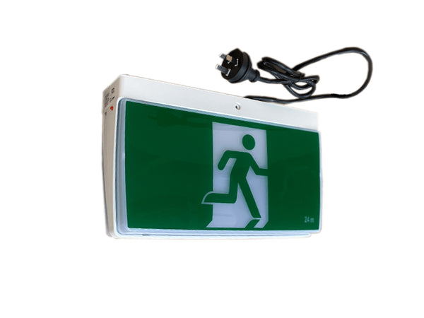 TEXLEDLFP All-in-One Easy Exit Complete with Decal and Flex and Plug , suit Construction sites  | E&E Lighting Australia