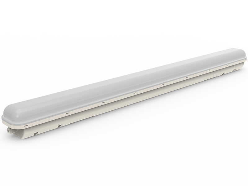 TEM24WPLFP LED 1200mm Temporary Emergency Weatherproof Batten with Flex and Plug - 240V, suit Construction sites  | E&E Lighting Australia