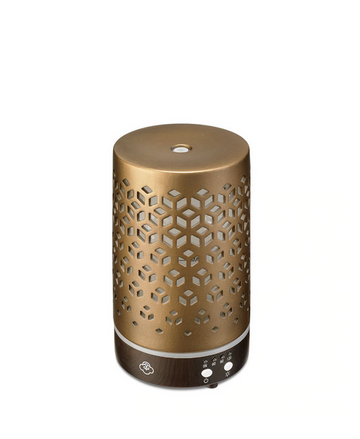Lozenge Brown Metal Ultrasonic Aromatherapy Diffuser