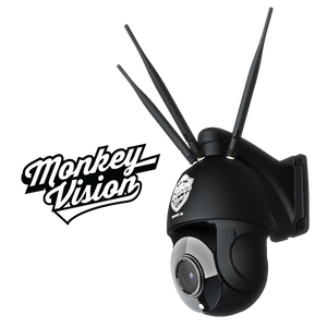 SENTRY 20 - 4G Pan Tilt Zoom Security Camera by Monkey Vision - Includes $306 of 4G Streaming Value - Optimised for Australia