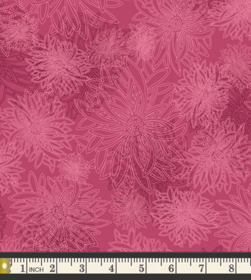 Floral Elements by Art Gallery Fabrics - Shocking Pink